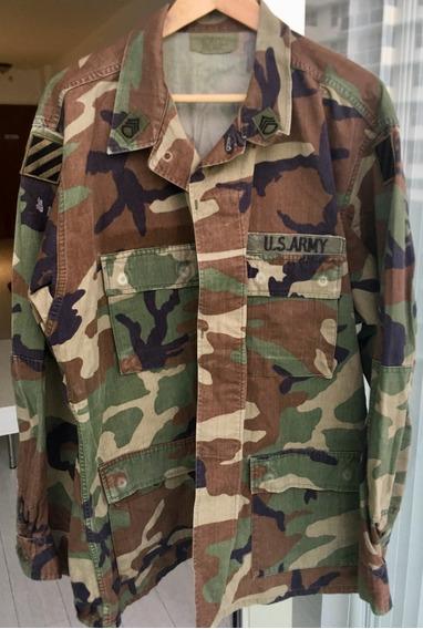 Chaqueta Camo Selva U S Army Staff Sergeant Con Parches