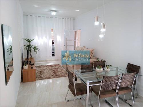 Casa Com 2 Dormitórios À Venda, 180 M² Por R$ 460.000,00 - Guilhermina - Praia Grande/sp - Ca0198