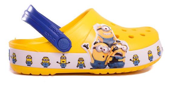 Zuecos Crocs Fun Lab Minions Multi Clog Kids -c205512-c730-
