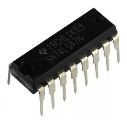 1 Circuito Integrado Ttl 74ls47 Bcd To 7-segment Decoder