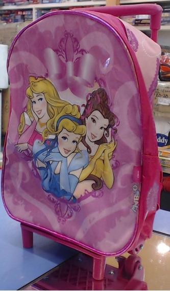 Mochila Colegial Con Carro Nena Princesas 3687 - Children