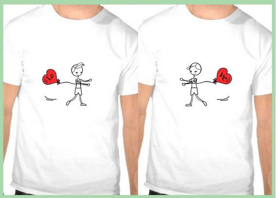 2 Camiseta Casal Gay Love