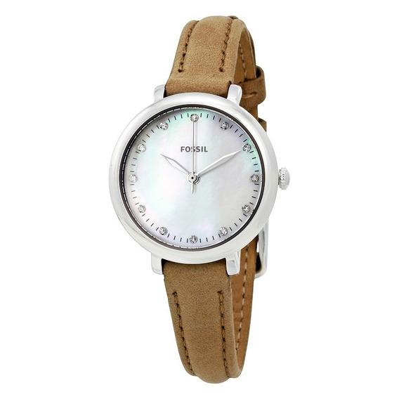 Relógio Feminino Fossil Es4084 Couro Marrom Original
