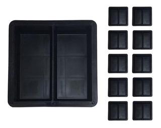 Forma Para Bloquete Dupla Peyver Plastico Kit 10 Unidades