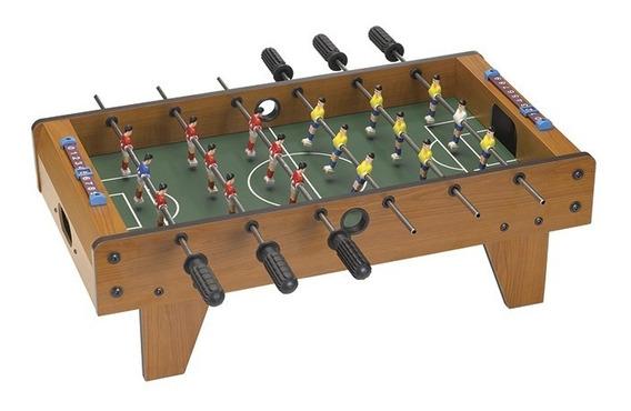 Pebolim Jogo Totó Mini Mesa Futebol 18 Jogadores 70cm
