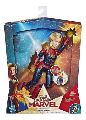Imagem 1 de 3 de Nova Boneca Filme Capitã Marvel Cósmica Eletrônica Hasbro