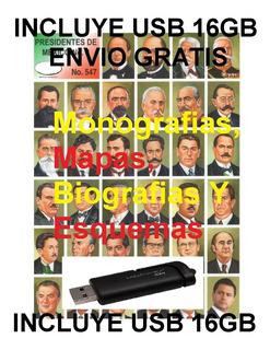 Laminas Monografias, Biografias Formato Digital Usb 16gb Env