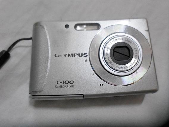 Câmera Digital Olympus T-100 12 Mp - Visor Quebrado - Sucata