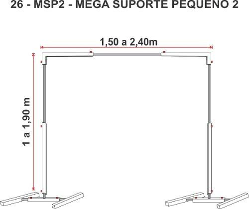 Estrutura Regulável Suporte P/ Banner Painel Tela Lona Pqno
