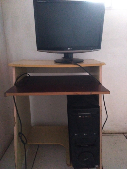 Vendo Monitor Lg Com Gabinete E Mesa.