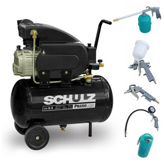 Compressor 8,5 Pratic Air Csi 8,5/25l Schulz+kit Pintura 5pç