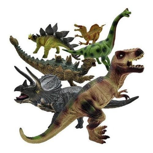Figuras Dinosaurios Grandes X6 Juguete Plástico Niños 6i13