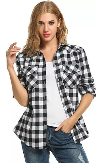 Camisas Entalladas Cuadros Mujer- Escocesas - Primavera - Og