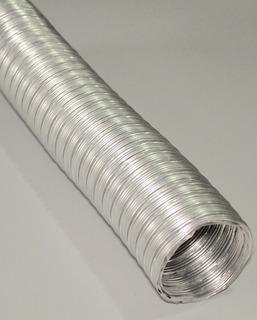 Caño Ventilación Corrugado Aluminio 4 Pulgadas X 1 Metro