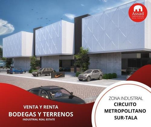 Bodega En Renta-venta / Industrial Warehouse Circuito Metropolitano Sur-tala Desde 1,056 M² Hasta 29,550 M²
