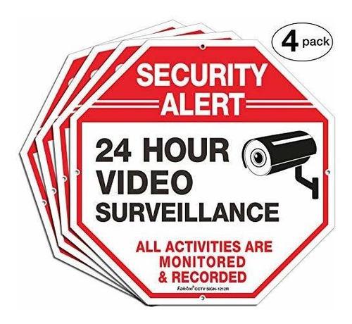Imagen 1 de 7 de Señales De Vigilancia De Vídeo, Señales De Seguridad, Octago