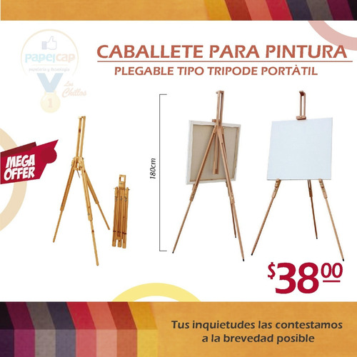 Imagen 1 de 1 de Caballete Para Pintura Y Arte 180cm Plegable Tipo Tripode
