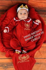 Kit Saida De Maternidade Menina Princesa Vermelha