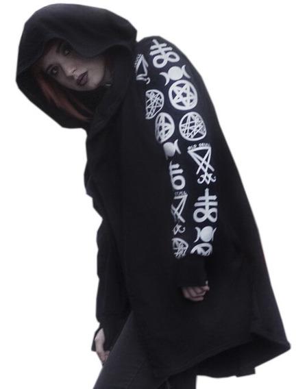 Cardigan Symbols - Pagan Witch Goth Punk Mujer