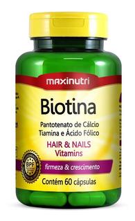 Biotina Firmeza & Crescimento 60 Caps - Maxinutri