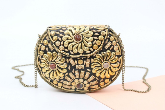 Clutch Cartera Noche Salome Metal Miscellaneous By Caff