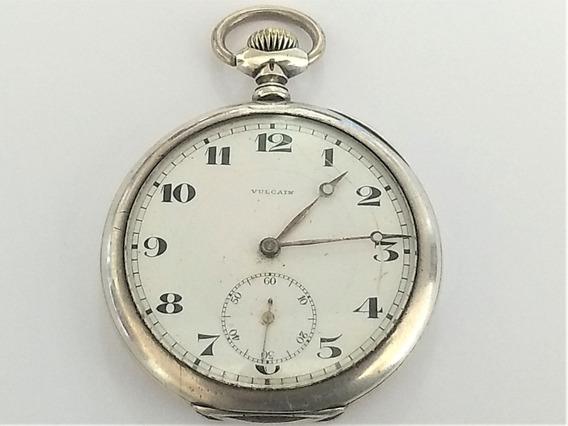 Relógio Raro Bolso Vulcain Em Prata 900 Funcionando