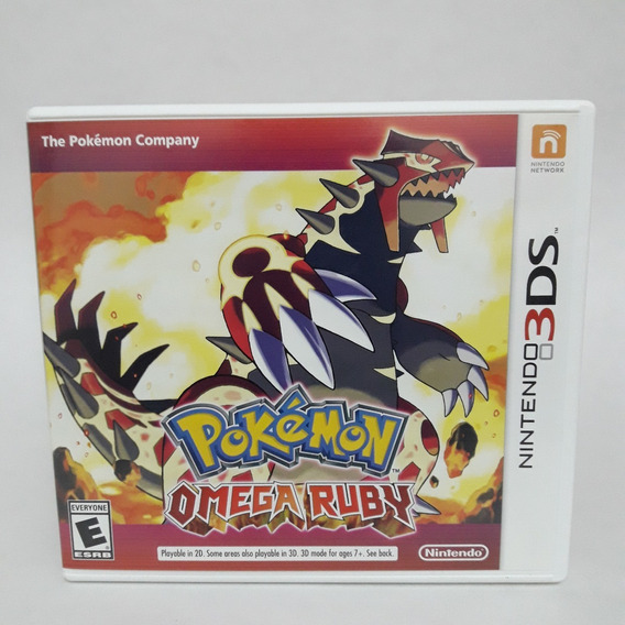 Pokemon Omega Ruby Nintendo 3ds Midia Fisica Game Jogo 2ds