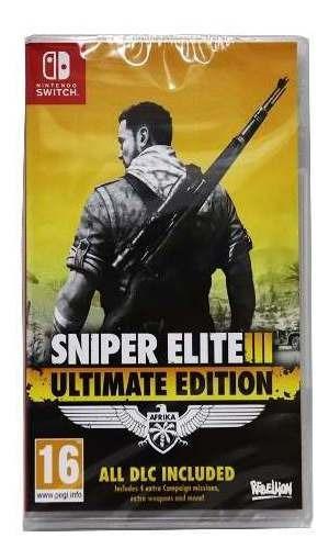 Sniper Elite 3 Ultimate Edtion Ni Switch Midia Fisica Novo