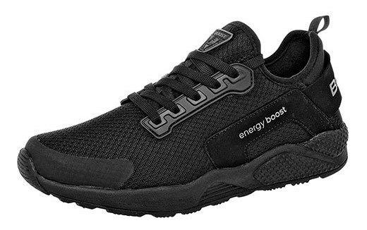 Boost Sneaker Deportivo Textil Niño Negro Textura C59997 Udt