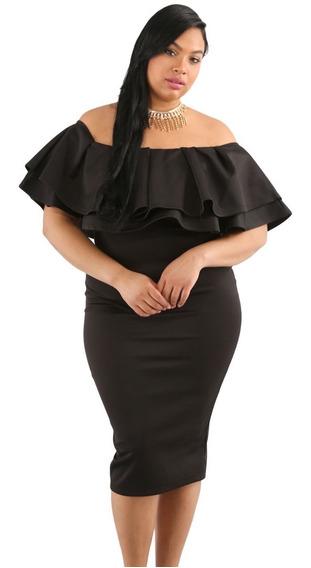 Vestido Negro Tallas Extras