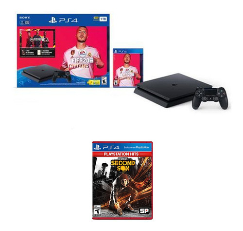 Combo: Consola Fifa 20 Bundle + Juego Infamous Second Son