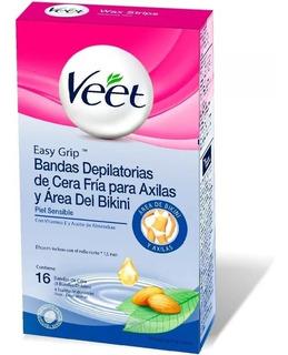 Veet - Bandas Cera Fría Axila Y Bikini Varios Tipos De Piel