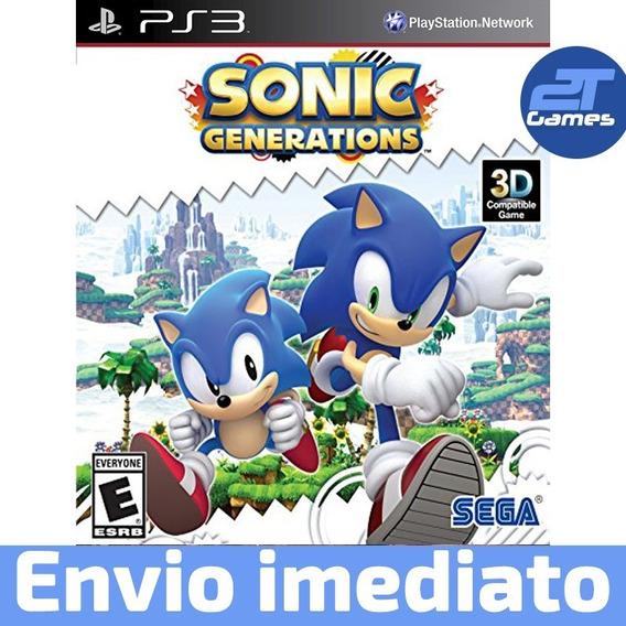 Sonic Generations Jogo Ps3 Psn Play 3 Envio Rápido