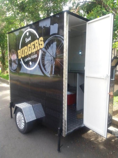 Trailer, Carro Para Comidas, Local Movil, Remolque