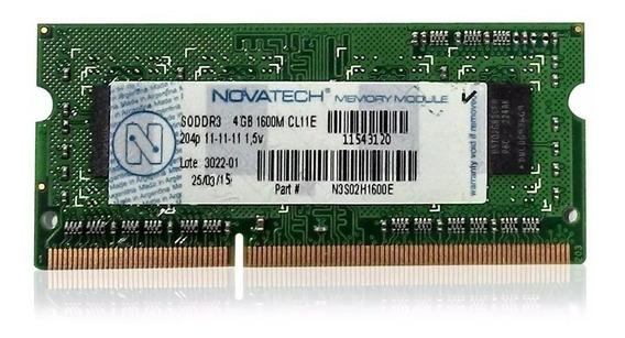 Memoria 4gb 1600 Mhz Ddr3 Sodimm 1.35v Bajo Consumo Garantía