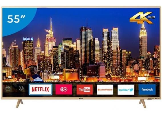 Smart Tv Led 55 Philco Ptv55f61snt Uhd 4k 3 Hdmi 2 Usb
