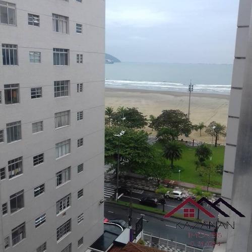 Imagem 1 de 15 de Apartamento 1 Dormitório -  Vista Mar - Gonzaga Santos - 1649