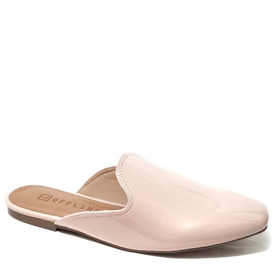 Sapato Feminino Mule Offline Natural Verniz 533721392