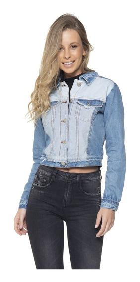 Jaqueta Feminina Jeans Cropped Duo Denim Zero - Dz908