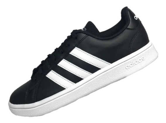 adidas Feminino Preto Grand Court Base Sola Borracha