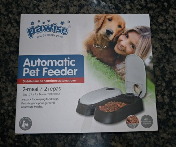 Pawise Automatic Pet Feeder - Comedouro Duplo Para Pets