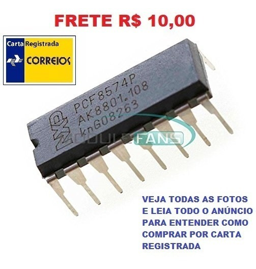 Circuito Integrado Pcf8574p - Pcf 8574p Frete R$ 10,00