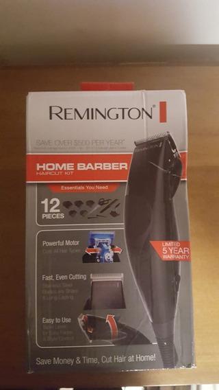 Máquina De Cortar Cabelo Remington Kit 12 Peças Preta