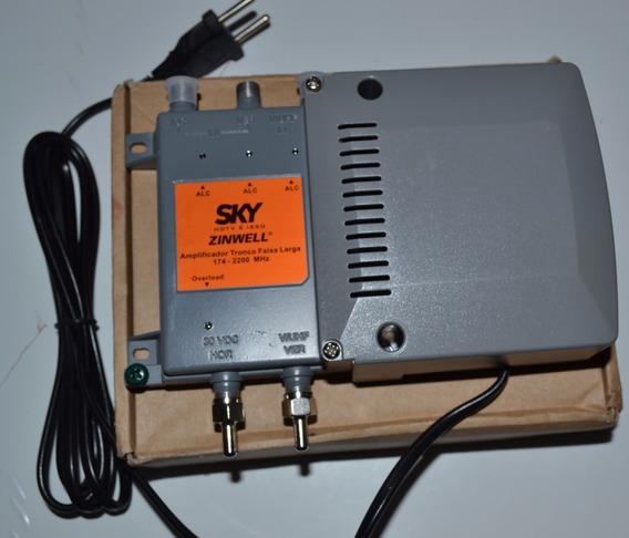 Amplificador Tronco Faixa Larga -174-2200mhz Sky E Fat 30