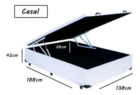 Cama Box Bau Casal 138x188 Promoção Fabricação Especial
