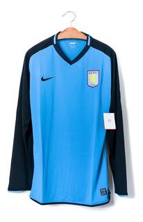 Camisa De Futebol Masculino Aston Villa 2008/09 Nike