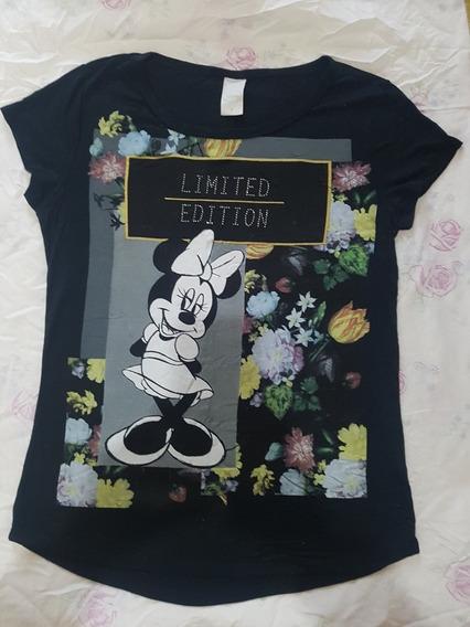Camiseta Minnie Preta Tam P