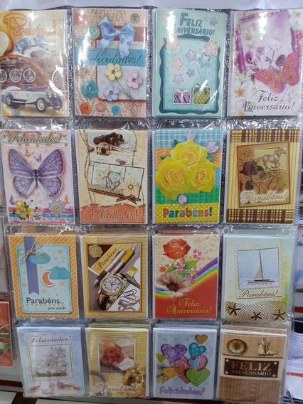 4 Cartelas De Cartões Aniversário,amor, Amizade E Bíblicos