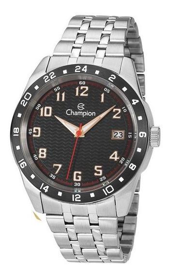 Relógio Champion Masculino Prateado Luxo Original Ca31382t