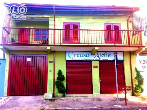 Imagem 1 de 18 de Excelente Sobrado, Com Um Salão Comercial Bem Localizado, Ao Lado Da Principal Avenida Da Cidade. - Ca04737 - 34428858